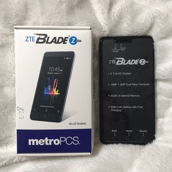NEW ZTE Blaze Z max metro pcs phone